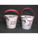 Betty Boop Tin Bucket (mini) Angel Design (retired)