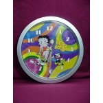 "Betty Boop Wall Clock 10"" Round Rainbow Design"