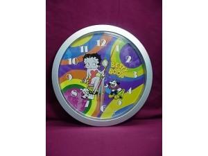 "Betty Boop Wall Clock 10"" Round Rainbow Design"
