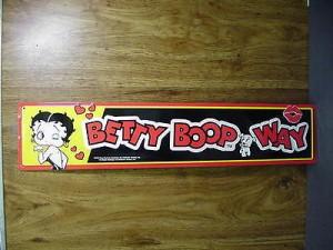 "Betty Boop Tin Sign ""Betty Boop Way"" Design"