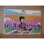 Betty Boop Metal License Plate Biker Babe Design