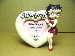 Betty Boop Picture Frame Heart Design W6831 (retired Item)
