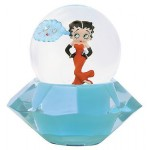 Betty Boop Water Ball Standing On Diamond Design Mini W6959 (retired Item)