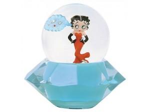 Betty Boop Water Ball Standing On Diamond Design Mini W6959 (retired Item)