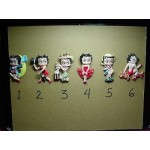 Betty Boop 3-d Magnet #5 Gone Fishing Design (retired Items)