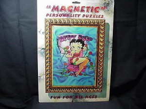 Betty Boop Magnetic Puzzle 36 Pieces Roses Design (retired Item)