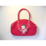 Betty Boop Pocketbook / Purse #37 Sitting With Pudgy Design Red