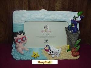Baby Betty Boop Picture Frame On The Beach Design W6891