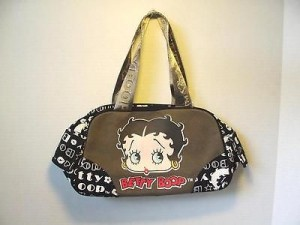Betty Boop Pocketbook / Purse #58 Face Design Green