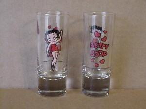 Betty Boop Shd 2-1/2 Oz Heavy Duty Shooter Glasses 2-piece Set