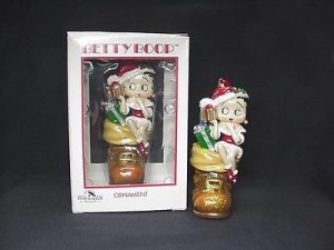 Betty Boop Ornament Sitting In Boot Design (retired Item)