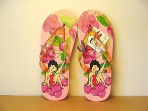 Betty Boop Flip Flops Grapes Design Size Small