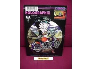 Betty Boop Sticker Holographix Biker Design