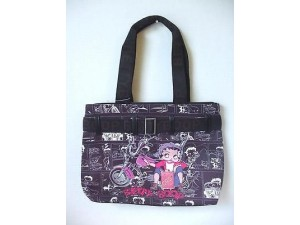 Betty Boop Pocketbook / Purse #22 Biker Gas Can Design Black Tote Bag