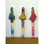 Princess Pens Three (3) Piece Set #06 Cinderella, Belle, & Arora Design