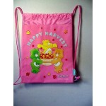 Care Bears Book Bag / Cinch Sack Pink #37