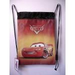 Cars Lightning Mcqueen Book Bag / Cinch Sack Red & Black #17