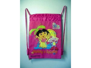 Dora The Explorer Book Bag / Cinch Sack Dark Pink #28