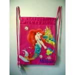 Little Mermaid Book Bag / Cinch Sack Dark Pink #04