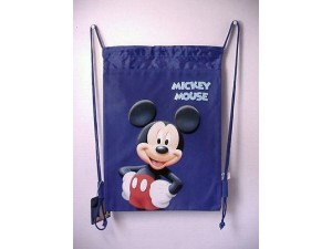 Mickey Mouse Book Bag / Cinch Sack Blue #10