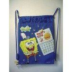 Spongebob Squarepants Book Bag / Cinch Sack Dark Blue #30