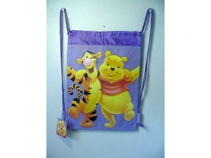 Winnie The Pooh & Tigger Book Bag / Cinch Sack Purple #15