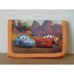 Cars Mini Tri Fold Wallet Orange #24