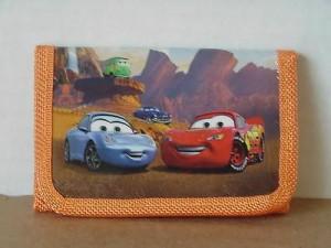 Cars Mini Tri Fold Wallet Orange #24