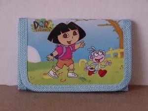 Dora The Explorer Mini Tri Fold Wallet Blue #14