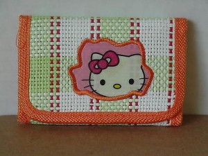 Hello Kitty Mini Tri Fold Wallet Orange #41