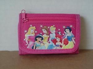 Princess Arora Mini Tri Fold Wallet Dark Pink #08