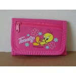 Tweety Bird Wallet Mini Tri Fold - Dark Pink #17
