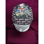 Betty Boop Do Rag Skullcap Biker Design Black