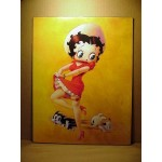 Betty Boop Post Card With Pudgy Design 11x14 #03