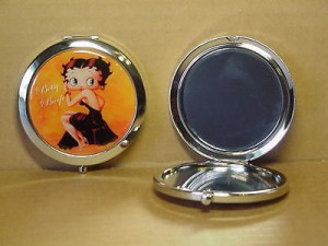 Betty Boop Compact Mirror Black Dress Design