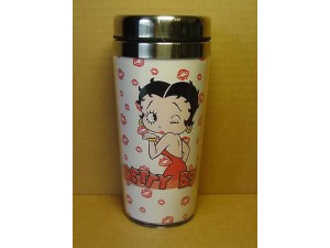 BETTY BOOP TUMBLER DOUBLE INSULATED KISSES DESIGN