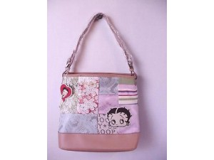 Betty Boop Pocketbook / Purse #11 Beige Large Reduced To $34.99