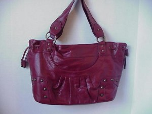 Pocketbook / Purse #02 Shoulder Bag Burgundy