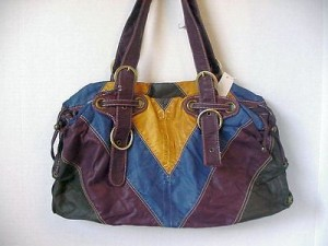 Pocketbook / Purse #06 V-design Blue & Burgandy