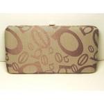 Clutch Purse Flat Clasp Wallet #05 Tan