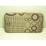 Clutch Purse Flat Clasp Wallet #06 Tan & Brown