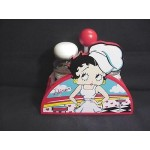 Betty Boop Diner Design Salt &pepper Shaker Set Retired