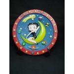 Betty Boop 3-d Plate Moon Design (retired)