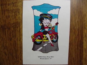 Betty Boop Windsculpture Biker Design (retired Item)