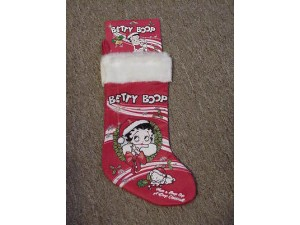 Betty Boop Christmas Stocking (wreath)