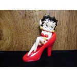 Betty Boop Ornament Sitting In Shoe Retired Item