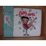 Betty Boop Bath Towels 3 Pc Set Champagne Design