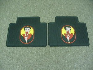 Betty Boop Rear Heavy Duty Floor Mats Classic Design 1-pair