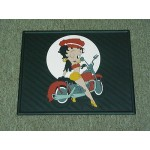 Betty Boop Rear Car Mats Biker Design 1-pair