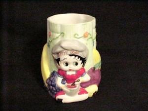 Betty Boop Vase/utensil Holder (retired Item)
